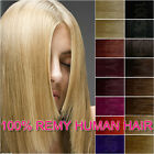 "16"" 18"" 20"" 24"" Clip In 100% Remy Human Hair Extensions 8Pcs Full Head 21Colors"