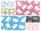 "Bears Face - Cuddle Soft Coral Fleece Fabric 59"" (150cm) wide per metre/half"
