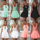 Hot Lady Celeb Lace Playsuit Party Evening Summer Ladies Dress Jumpsuit Shorts K