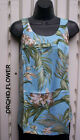 Tropical round neck muu Hawaiian print tank top-L