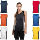 Hanes Womens Sports Tank Top Vest Singlet T Tee Shirt Breathable Fitness Gym New