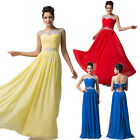 Beaded Evening Ball Gown Prom Long Party Fit Formal Banquet Wedding Bridal Dress