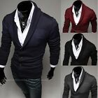 Mens Fashion Slim Fit Button Collared V Neck Knitted Sweater Jumper Cardigan Y02