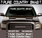 PURE COUNTRY SWAG WINDSHIELD LETTERING DECAL STICKER BUCK GIRL 4X4 MUD REDNECK