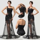Sexy Black Cocktail Dress Party Formal Evening Ball Prom Dresses Wedding Gowns