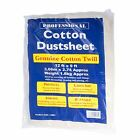 Large Heavy Duty Dust Sheet Quality Cotton Twill 12' ft x 9' ft Professional
