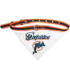 Miami Dolphins NFL Licensed Bandana Dog Collar