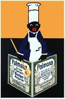 6456.Palmona.black male chef with apron holding menu.POSTER.art wall decor