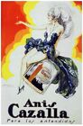 6478.Anis cazalla.show girl with purple dress atop bottle.POSTER.art wall decor