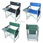 Folding Portable Fishing Chair Camping Outdoor Bench Garden Seat With Side Table