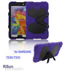 "For Samsung Galaxy Tab4 8""Heavy Duty Shock Proof purple caseScreen Protector"