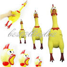 Cute Yellow Screaming Rubber Chicken Pet Dog Toy Squeak Squeaker Chew Toy 3 Size