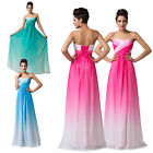 New Stock Beaded Prom Gown Party Wedding Ball Bridesmaid Cocktail Evening Dress