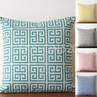"Greek Key Pillow Cover Village Towers geometric Cushion Cover PillowCase18""x45cm"