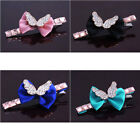 t714m08 Bowknot Rhinestone Crystal Wing Alligator Barrette Hair Clip HairPin