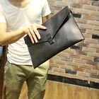 New mens Casual envelope bag Vintage PU business clutch Fashion handbag
