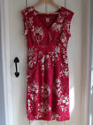 ex-WHITE STUFF 'LOTTIE' VINTAGE STYLE RED FLORAL DRESS BNWOT 8,10,12,14,16