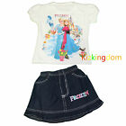 Frozen Elsa and Anna Girl Summer 2pcs Set(Top + Jeans Skirt) Size 2,3,4,5,6,8