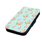 Shabby Chic Style Design 3 Printed Faux Leather Flip Phone Cover Case