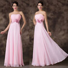 Masquerade Party Formal Evening Long Gown Bridesmaid Prom Ball Club Floral Dress
