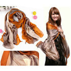 Fashion Women's 100% Silk Long Smooth Scarves Wrap Scarf Shawl Neckerchief G37