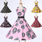 ❤DISCOUNT❤Vintage 1950s Rockabilly Swing Cocktail Evening Party Housewife Dress