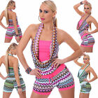 Sexy Women Retro Style Shorts Jumpsuit Summer Hot Pant Playsuit/Overall 8-14