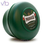 PRORASO Green Shaving Soap In A Bowl Made in Italy - Eucalyptus, Natural Cream