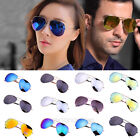 Fashion Unisex Women Men Aviator Mirror Lens Vintage Retro Sunglasses Glasses