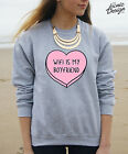 * Wifi Is My Boyfriend Jumper Sweater Top Wi-Fi Pastel Tumblr Fashion Gift *