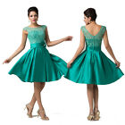 New Green Vintage short 50s 60s Cocktail evening prom Bridesmaid wedding dress