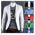 New Men's Batiste Casual Coats Slim Fit Stylish One button Suit Blazer Jackets