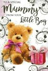 to / for my mummy from your little boy happy birthday card