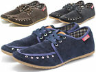 New British Mens Suede Casual Lace Slip On Loafer Shoes Moccasins Driving Shoes