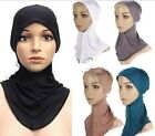 FD871 Hijab Under Scarf Hat Bone Bonnet Islamic Head Band Neck Chest Cover 1pc:)