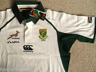 S M XXL 3XL SOUTH AFRICA SPRINGBOKS CANTERBURY RUGBY SHIRT JERSEY WHITE