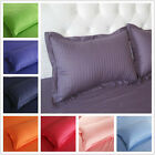 1 Pair Rectangle Pillowslip Bedding Solid Color Satin Striped Cotton Pillowcases