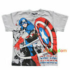 BNWT Captain America Summer Boy Tee T-shirt Top Size 2,4,6,8,10