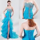 Sweetheart Formal Split Prom Ball Bridal Bridesmaid Fishtail Evening Dress Gowns