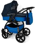 LUCKY Polka dot 3 in 1 Pram Pushchair Travel System with car seat BEST QUALITY!!