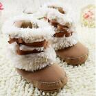 4 Color Baby Girl Bowknot Fur Snow Short Boots NWT Toddler Warm Fleece Shoes BEV