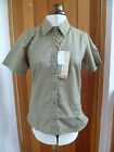 TRESPASS ENO SAND BEIGE CHECK WALKING SHIRT TREKKING TRAVEL L SECRET POCKET