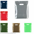 "Color bag Coloured Plastic Carrier Bags 10""x12"" - 06 Colours Available"