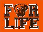 CLEVELAND BROWNS FOR LIFE T shirt football Johnny Manziel dawg pound