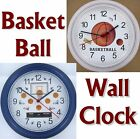 BASKETBALL WALL CLOCK balls game basket ball hoops BBall net backboard NEW