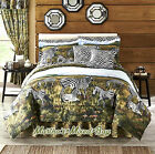 BLACK WHITE SAFARI ZEBRA KINGDOM 6-8pc Comforter Set King Queen Full Twin Sizes