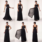 NEW HOT Black Chiffon Evening Dresses Formal Gown Cocktail Bridesmaid Prom Dress