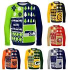 NFL Football 2014 Logo Ugly Christmas Sweater Busy Block Style - Pick Your Team