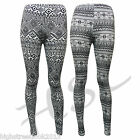 Brand New Womens Style Ancient Aztec Ladies Fashions Girls Leggings Size 8-14
