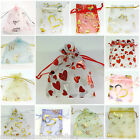100 Wedding Favor Gift Bags Organza Jewellery Pouch 7x9cm 10x12cm